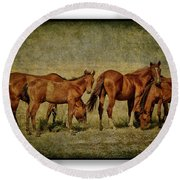 Horses 38 Round Beach Towel