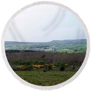 Horses At Lough Arrow County Sligo Ireland Round Beach Towel