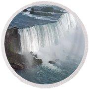 Horseshoe Falls At Niagara Round Beach Towel