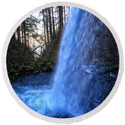 Horsetail Falls 2 Round Beach Towel