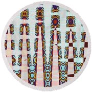 Hosiptal Construction Abstract #2 Round Beach Towel