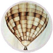 Hot Air Balloon Round Beach Towel