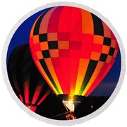 Hot Air Balloons Round Beach Towel