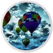 Hot Air Balloons In Albuquerque Round Beach Towel
