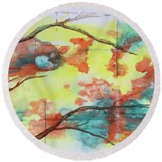 Hot Canyon Winds Round Beach Towel