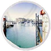 Hot Day Round Beach Towel