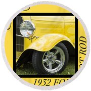 Hot Rod 10 Round Beach Towel