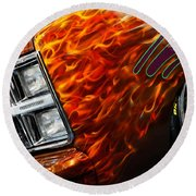 Hot Rod Chevrolet Scotsdale 1978 Round Beach Towel