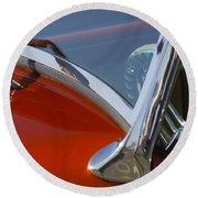 Hot Rod Steering Wheel 4 Round Beach Towel
