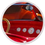 Hot Rods Round Beach Towel