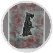 Hot Scottie Round Beach Towel