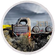 hot springs day-2351-2-R1 Round Beach Towel