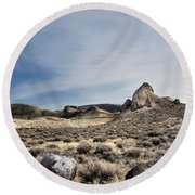 hot springs day-2367-2-R2. Round Beach Towel