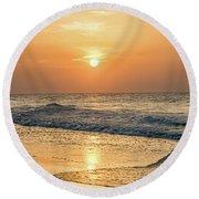Hot Summer Sun Round Beach Towel
