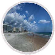 Hot Times In The Summertime Round Beach Towel