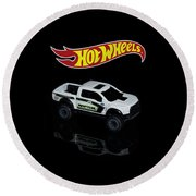 Hot Wheels Ford F-150 Raptor Round Beach Towel by James Sage