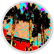 Hot Winter Round Beach Towel by Eikoni Images