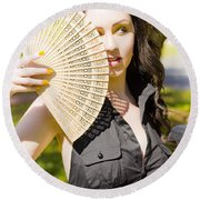 Hot Woman Round Beach Towel by Jorgo Photography - Wall Art Gallery