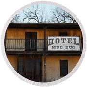 Hotel Mud Bug Paramount Ranch Round Beach Towel