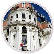 Hotel Negresco In Nice Round Beach Towel
