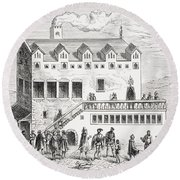 Hotel Of The Chamber Of Accounts In The Round Beach Towel