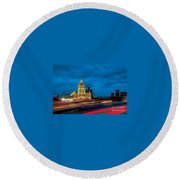 Hotel Radisson In Moscow Round Beach Towel