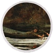 Hound And Hunter Round Beach Towel