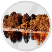 Housatonic River Mist Round Beach Towel