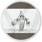 House  2 Round Beach Towel