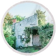 House In The Forest Round Beach Towel