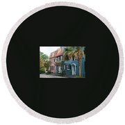 Houses In Charleston Sc Round Beach Towel
