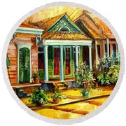 Houses In The Marigny Round Beach Towel