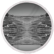 Houses On The Watch Round Beach Towel