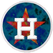 Houston Astros Logo Round Beach Towel