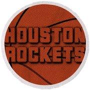 Houston Rockets Leather Art Round Beach Towel