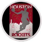 Houston Rockets Round Beach Towel