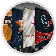 Houston Sports Teams 2 Round Beach Towel