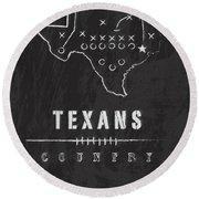 Houston Texans Art - Nfl Football Wall Print Round Beach Towel
