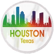 Houston Tx Round Beach Towel