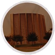Houston Waterfall Round Beach Towel
