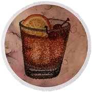 How About An Old Fashioned? Round Beach Towel