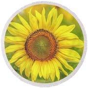 How Do You Dew, Sunflower Round Beach Towel