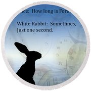How Long Is Forever Round Beach Towel