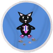 How To Catch A Mouse - Humor Round Beach Towel