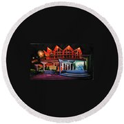 Howard Johnsons At Night Round Beach Towel