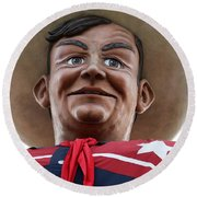 Howdy Folks - Big Tex Portrait 02 Round Beach Towel