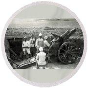 Howitzer Gun Turke World War Round Beach Towel