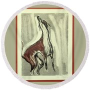 Howling For Joy Round Beach Towel