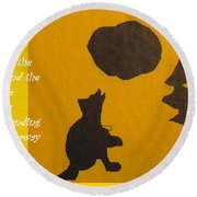 Howling Song Round Beach Towel