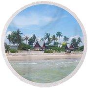 Huahin Beach View Round Beach Towel